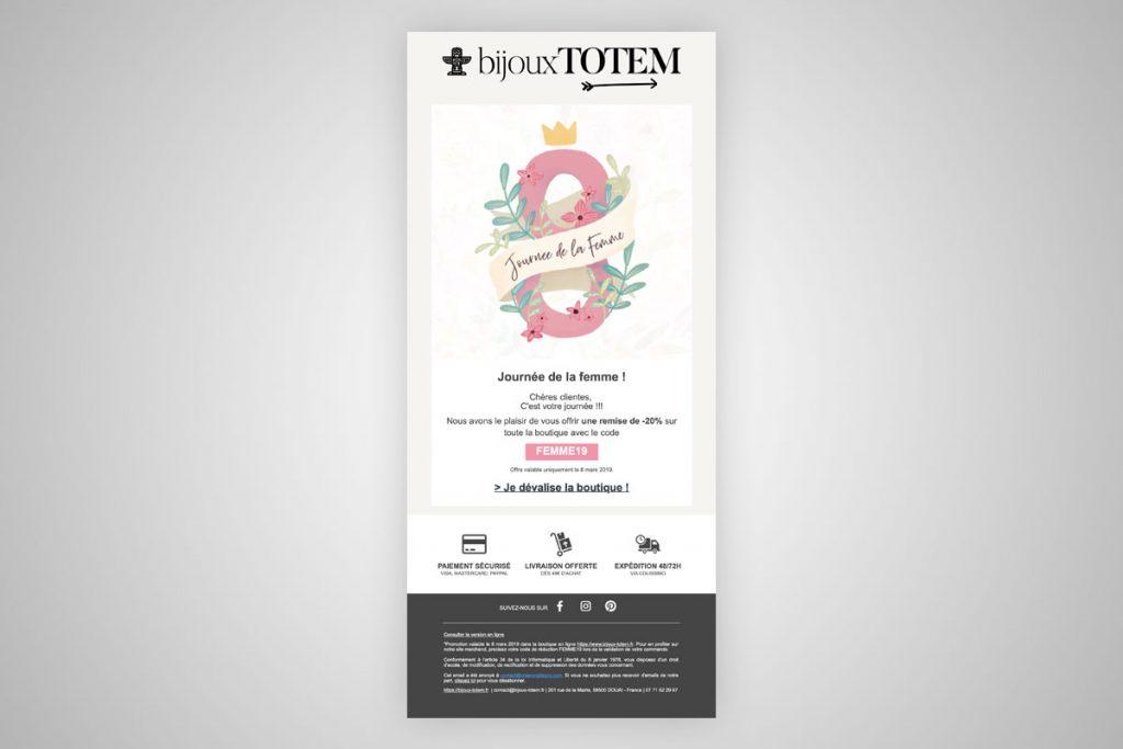 Campagne Emailing Bijoux-Totem