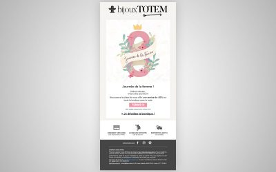 Campagne Emailing Bijoux-Totem