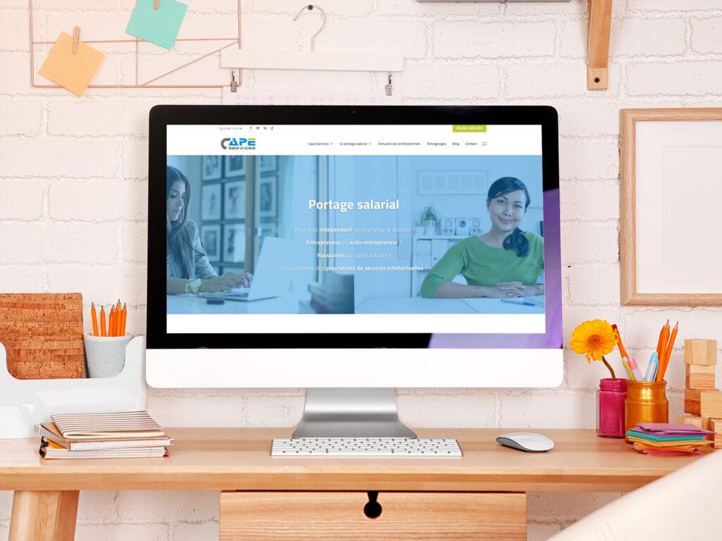 Refonte du site CAPE Services et stratégie SEO, par BeWithYou