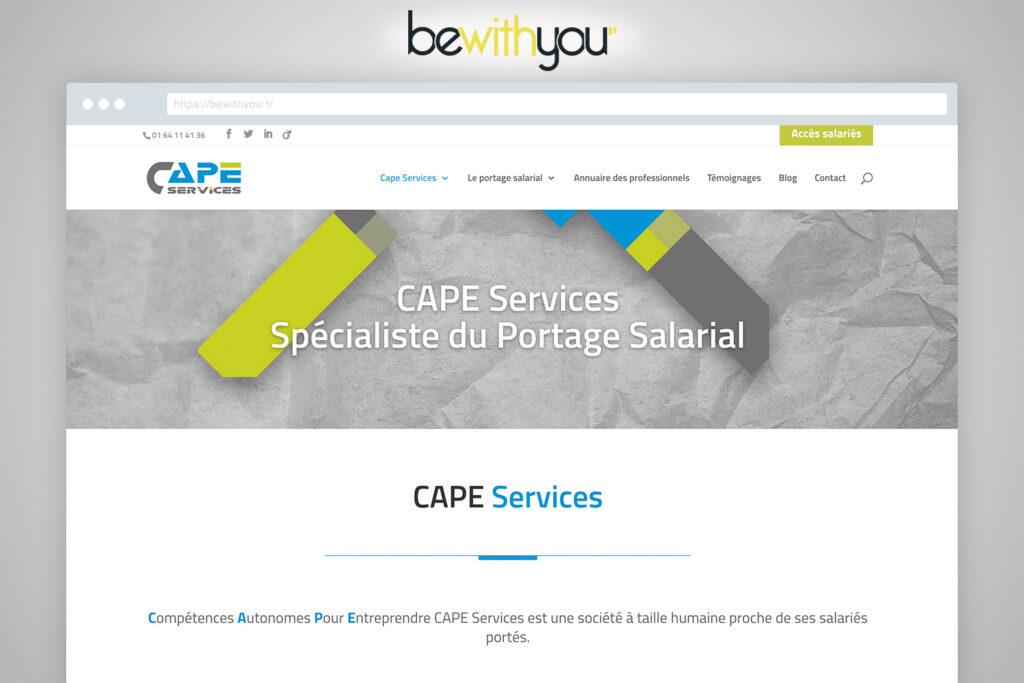 Nouveau Site CAPE Services Portage Salarial, par BeWithYou Arras