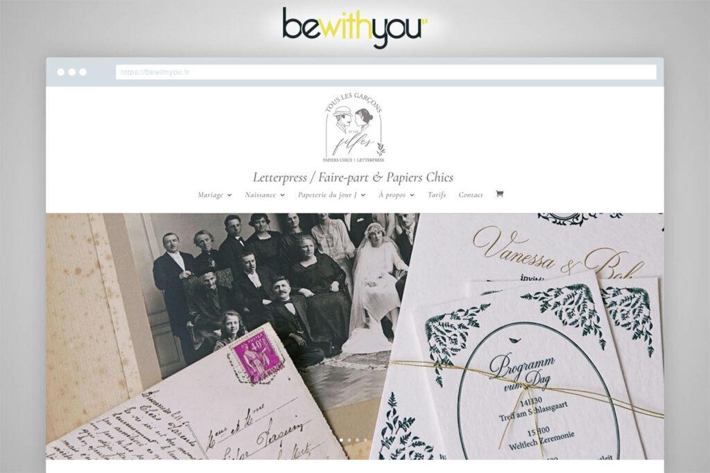 Touslesgarconsetlesfilles faire-part site e-commerce Bewithyou Arras Agence Web